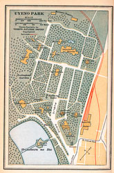 70424-0009 - Map of Ueno Park