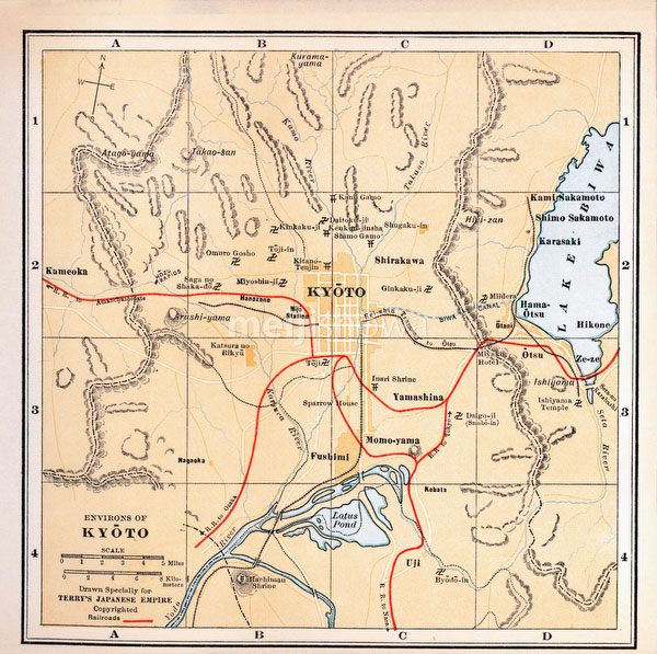 70424-0016 - Map of Kyoto 1920