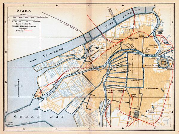 70424-0020 - Map of Osaka 1920