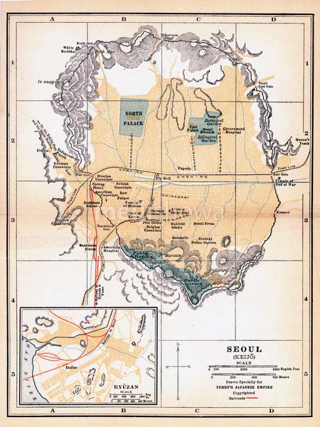 70424-0026 - Map of Seoul 1920