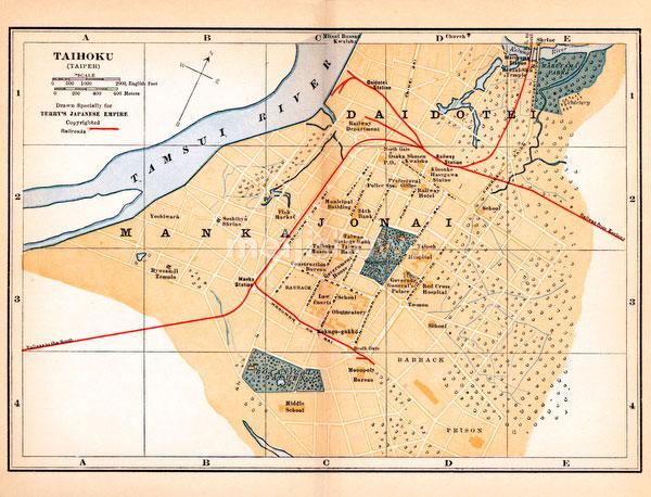 70424-0028 - Map of Taipeh 1920